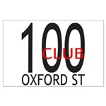 The 100 Club Oxford ST Large Poster