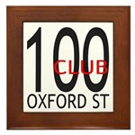 The 100 Club Oxford ST Framed Tile