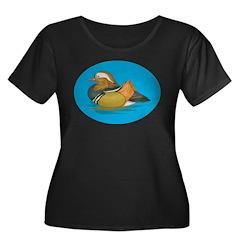 Duck Women's Plus Size Scoop Neck Dark T-Shirt