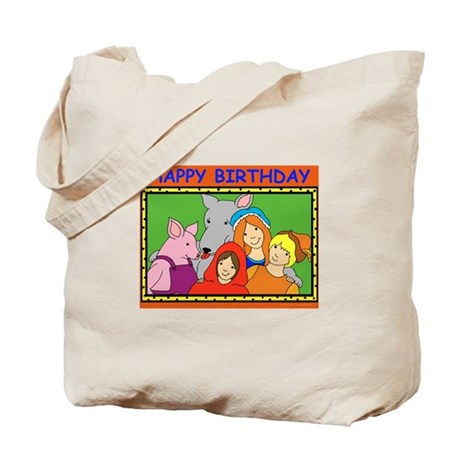 Fairy Tale Characters Birthday Tote Bag