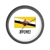 Brunei Flag Wall Clock