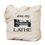 I Love My Lathe Tote Bag