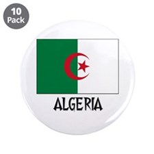 "Algeria Flag 3.5"" Button (10 pack)"