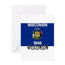Wisconsin Flag Greeting Card