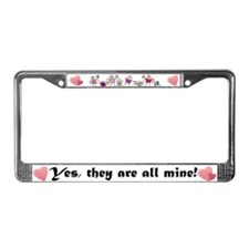All Mine (8 Kids) License Plate Frame