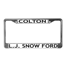 L.J. Snow Ford License Plate Frame