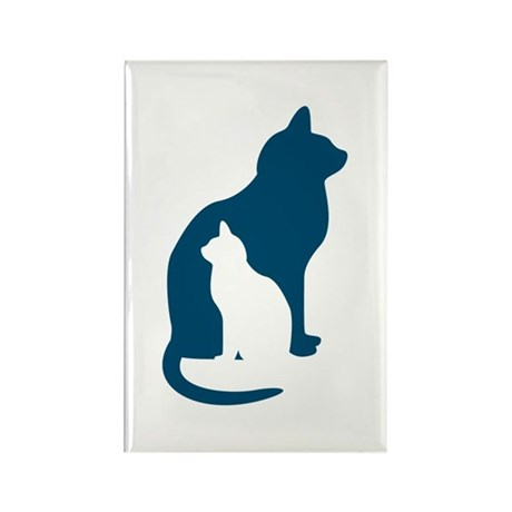 Feline Silhouettes Rectangle Magnet