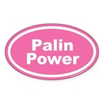 Palin Power Oval Sticker