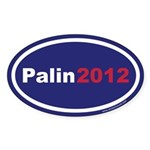 Palin 2012 Oval Sticker