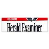 Los Angeles Herald-Examiner Bumper Bumper Sticker