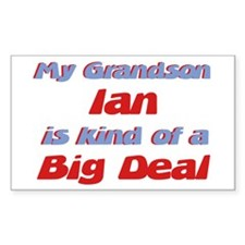 Grandson Ian - Big Deal Rectangle Decal