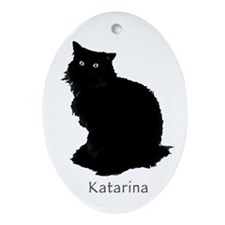 Norwegian Forest Cat Oval Ornament