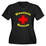 Mountain Rescue Women's Plus Size V-Neck Dark T-Sh
