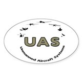 UAS Oval Sticker (10 pk)