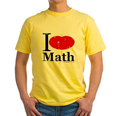 I Love Math Yellow T-Shirt