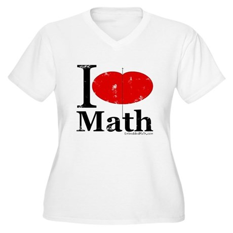 I Love Math Women's Plus Size V-Neck T-Shirt