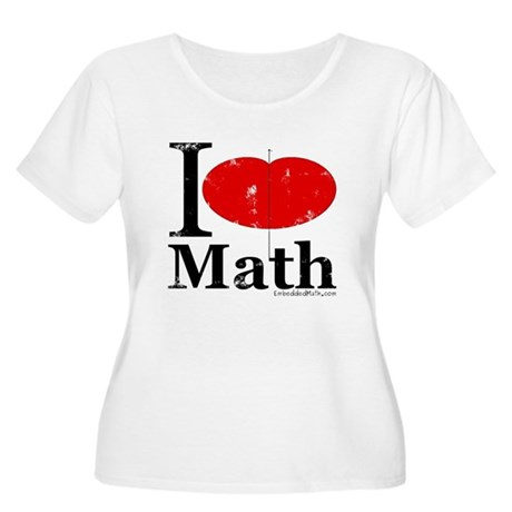 I Love Math Women's Plus Size Scoop Neck T-Shirt