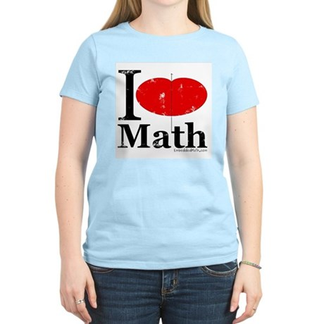 I Love Math Women's Light T-Shirt