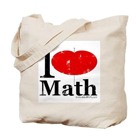 I Love Math Tote Bag