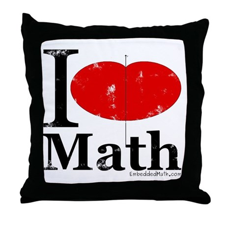 I Love Math Throw Pillow