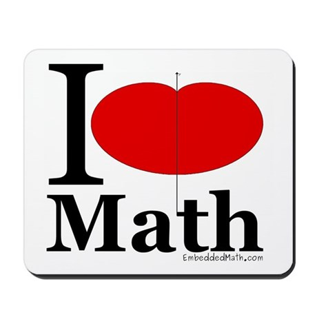 I Love Math Mousepad
