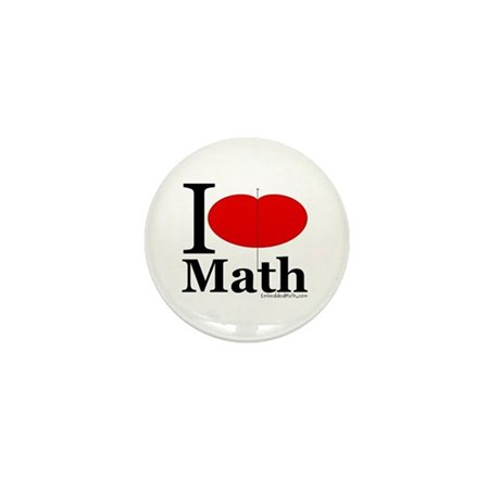 I Love Math Mini Button