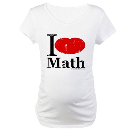 I Love Math Maternity T-Shirt