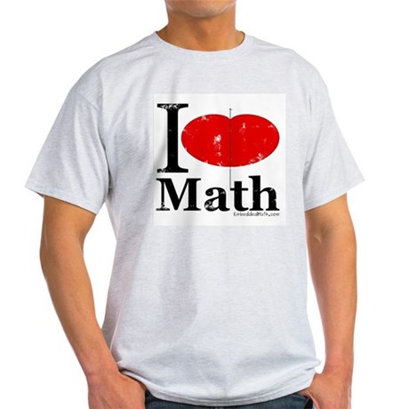 I Love Math Light T-Shirt