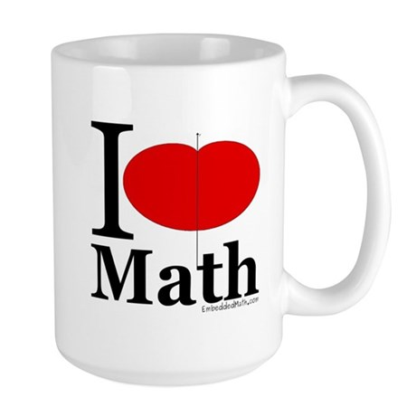 I Love Math Large Mug