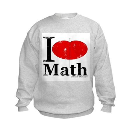 I Love Math Kids Sweatshirt
