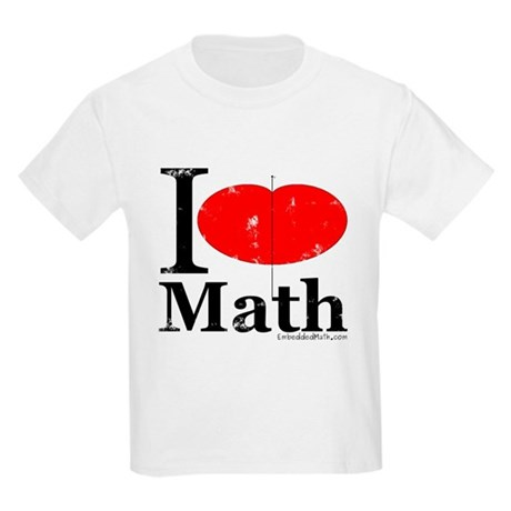 I Love Math Kids Light T-Shirt