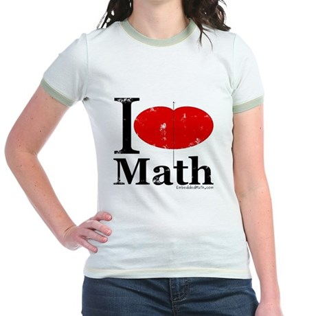 I Love Math Jr. Ringer T-Shirt
