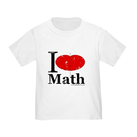 I Love Math Toddler T-Shirt