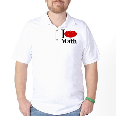 I Love Math Golf Shirt