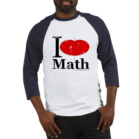 I Love Math Baseball Jersey