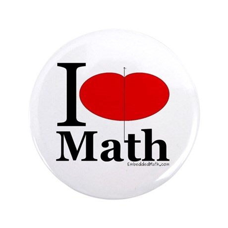"I Love Math 3.5"" Button (100 pack)"
