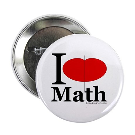 "I Love Math 2.25"" Button (100 pack)"