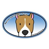 Anime AmStaff Oval Decal