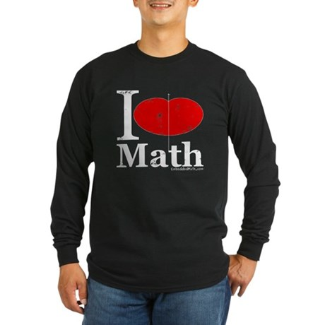 I Love Math Long Sleeve Dark T-Shirt