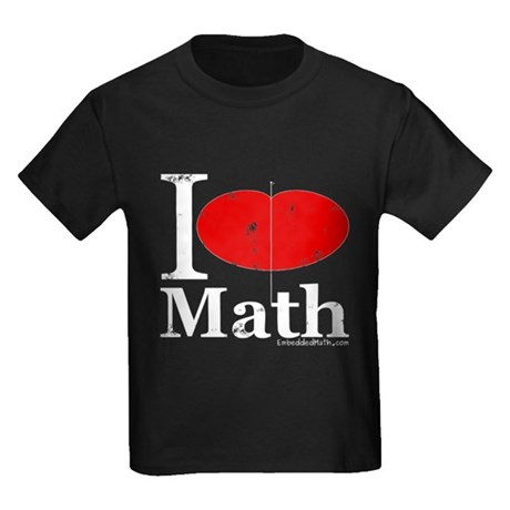 I Love Math Kids Dark T-Shirt
