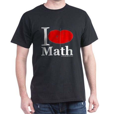 I Love Math Dark T-Shirt