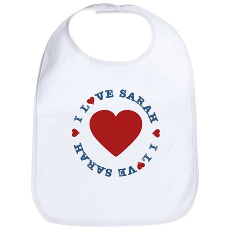 I Love Heart Sarah, Palin Bib