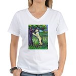 Wheatie Squirrel Chaser Women's V-Neck T-Shirt