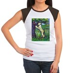 Wheatie Squirrel Chaser Women's Cap Sleeve T-Shirt