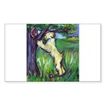 Wheatie Squirrel Chaser Rectangle Sticker 50 pk)