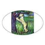 Wheatie Squirrel Chaser Oval Sticker (50 pk)