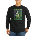 Wheatie Squirrel Chaser Long Sleeve Dark T-Shirt