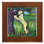 Wheatie Squirrel Chaser Framed Tile