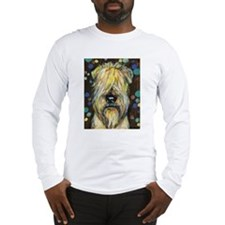 Portrait of a wheatie brown Long Sleeve T-Shirt
