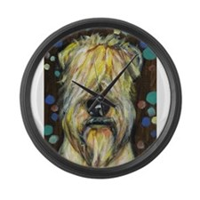 Portrait of a wheatie brown Large Wall Clock